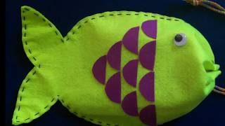 How to make | Funny | Fish | Bag | out of | Felt