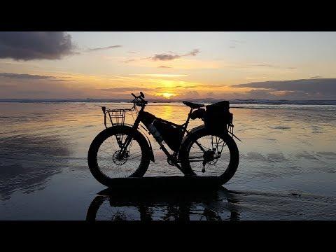 Matt Jensen Riding Motobecane Lurch fatbike at Beach