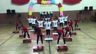 Zonguldak Devrek Eğerci Ortaokulu 5/A sınıfı 23 Nisan Step Gösterisi