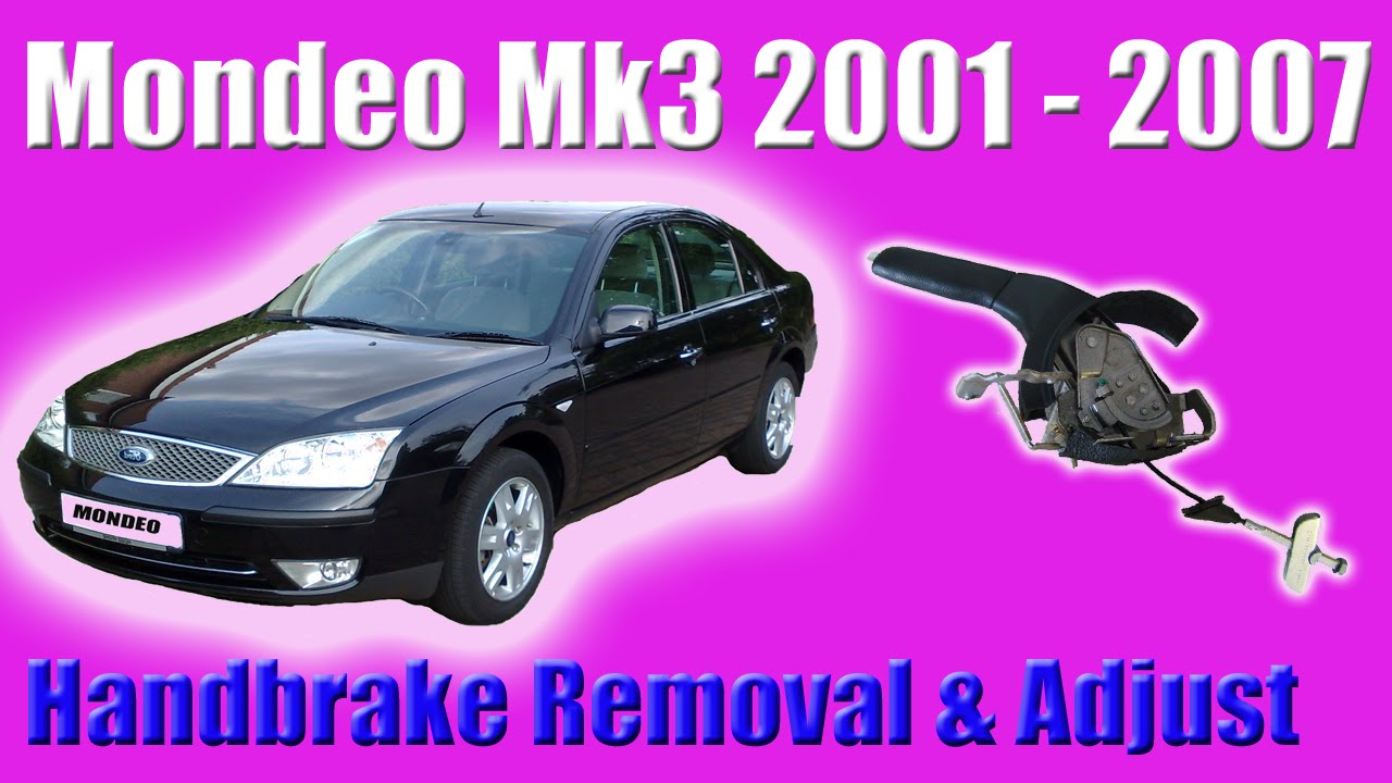 ford mondeo mk3 handbrake removal and adjustment youtube. Black Bedroom Furniture Sets. Home Design Ideas