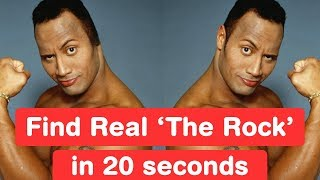 Find Real Dwayne Johnson in 20 seconds! The Rock Challenge