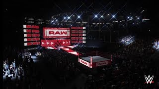 WWE 2K18 Raw New Arena Look with Seth Rollins  Entrance!!!