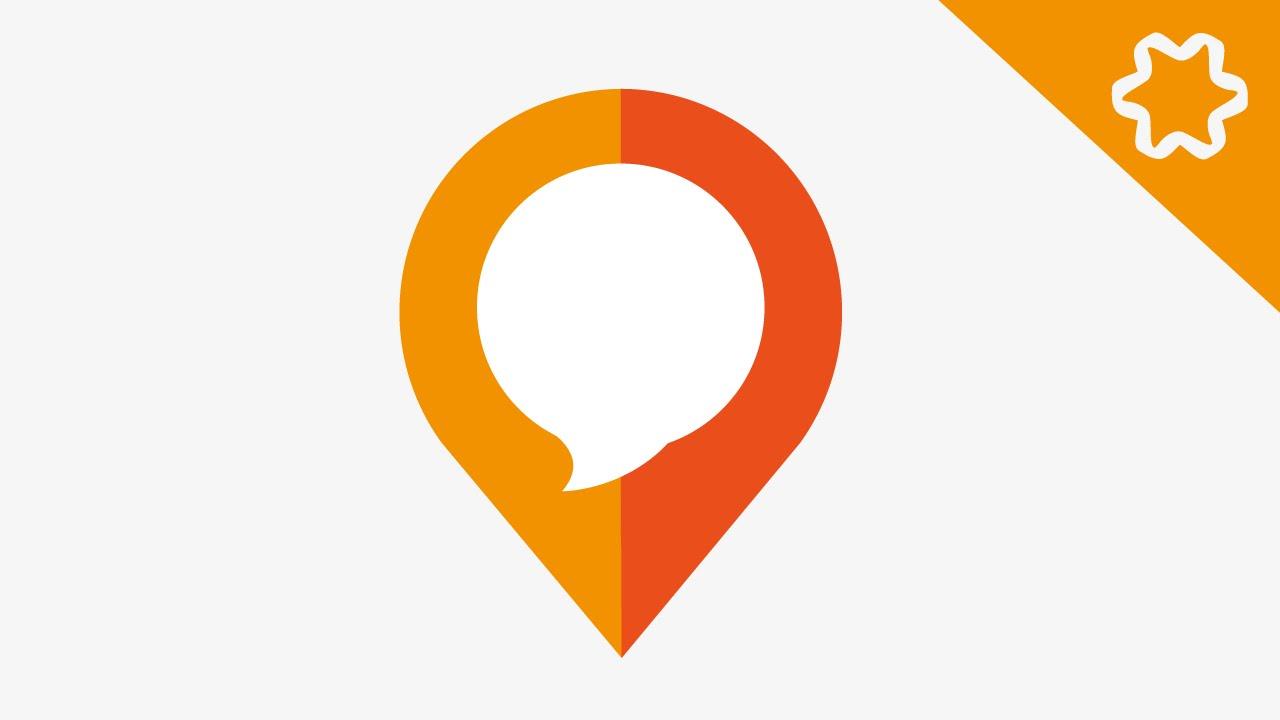 pin map icon logo design tutorial adobe illustrator