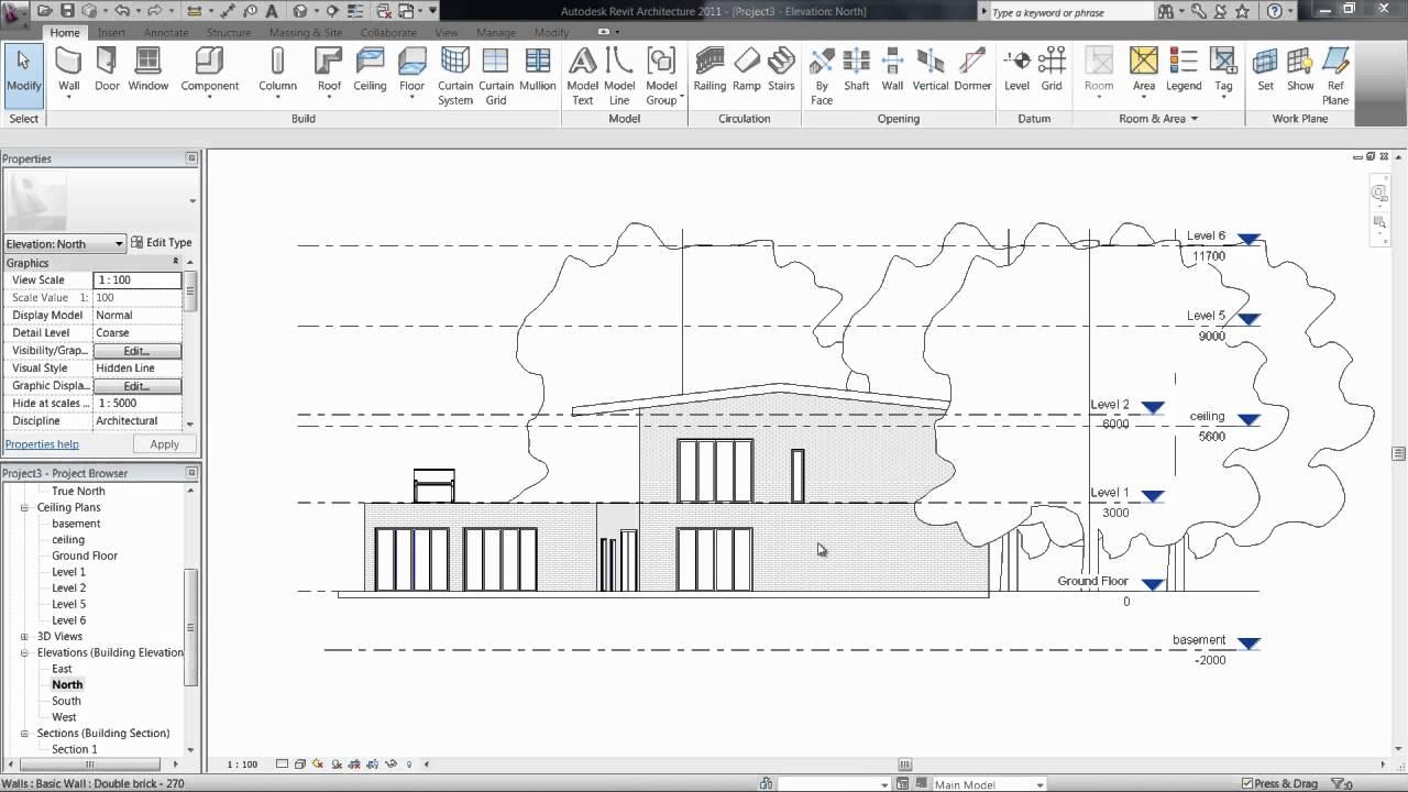 5.1 VIEWS // LEVELS & FLOOR PLANS. [Revit Architecture ...