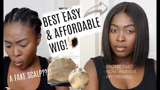 FAKE SCALP?! BEST WIG I HAVE EVER TRIED! PERFECT FOR NATURAL HAIR GIRLS || ft. ROYALME