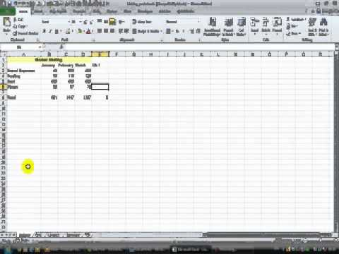 How to link worksheets in Excel - creating a 3D formula - YouTube