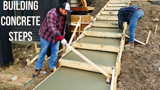 Construction of Concrete Stairway Start to Finish [ASMR]