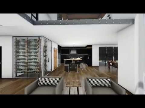 Interior 3D walkthrough of a Quebec residence