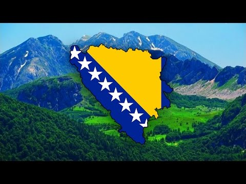 Blank Map of Bosnia and Herzegovina (Bosna i Hercegovina) - Timelapse