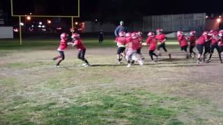 Logan Thompson 8 years old mighty mites pop warner practice