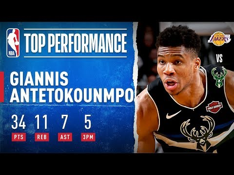 Giannis HEATS UP From Beyond The Arc!