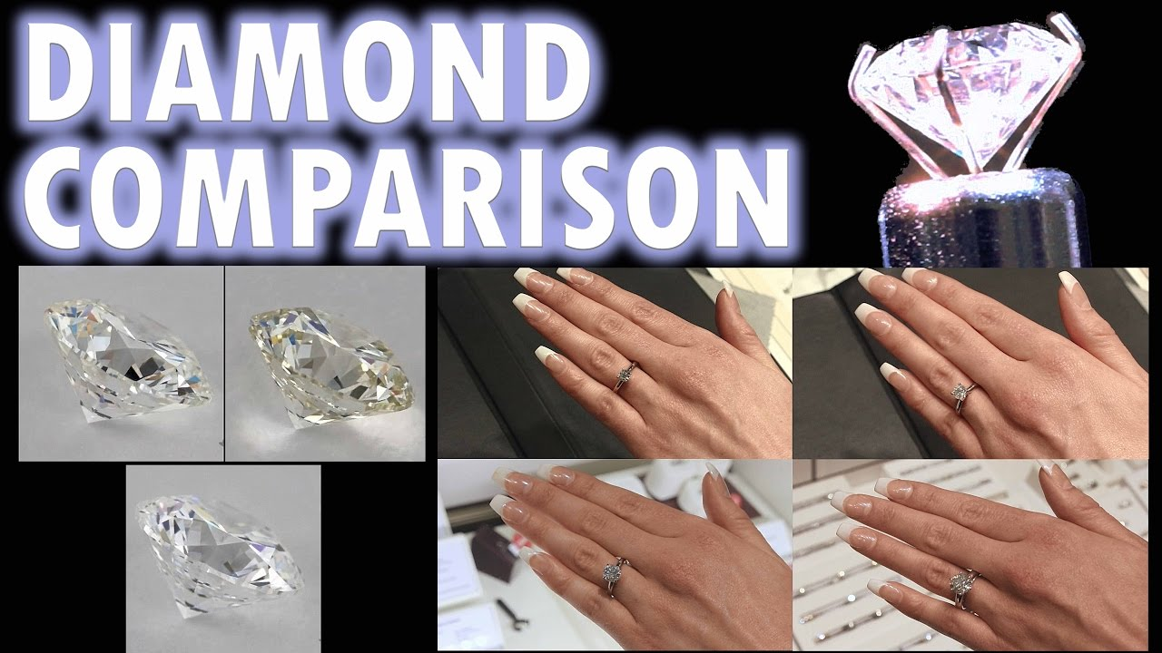 Diamond size comparison color clarity 2 carat 1 ct ring on finger diamond size comparison color clarity 2 carat 1 ct ring on finger hand 3 5 12 cut price vvs women youtube nvjuhfo Images