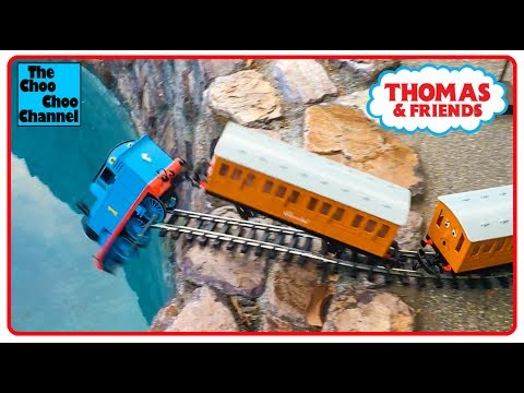 ⭐ THOMAS THE TRAIN EPIC CRASH INTO A POOL with CUPCAKES! ACCIDENTS WILL HAPPEN! Toy Train Video⭐