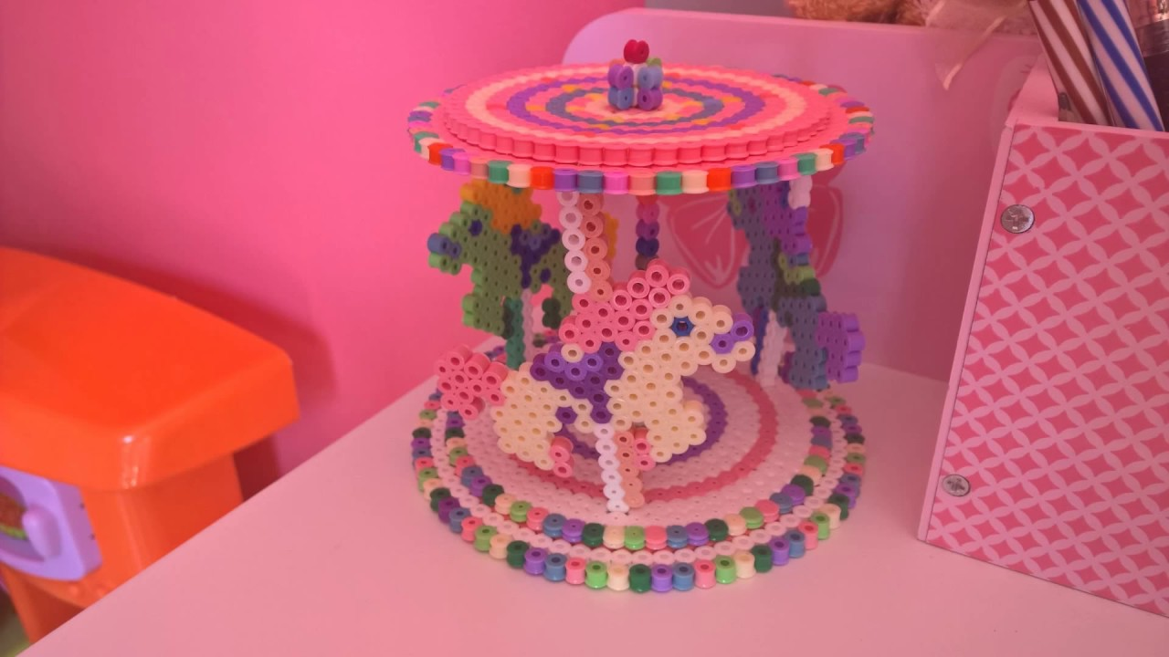 perles a repasser hama beads 3d carousel youtube. Black Bedroom Furniture Sets. Home Design Ideas