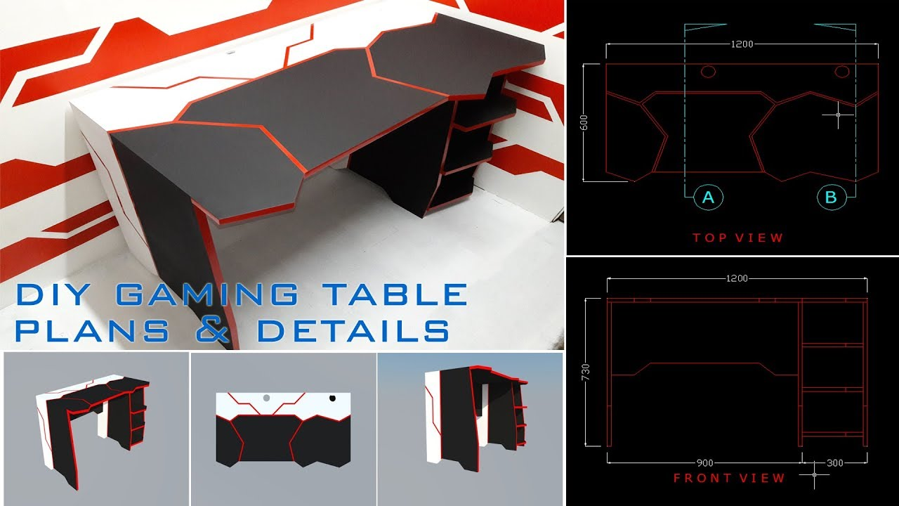 Diy Gaming Desk Using Basic Tools Plans And Details