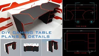 DIY Gaming Desk Using Basic Tools + Plans and Details