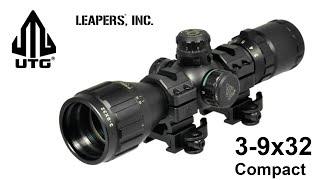 Оптичний приціл Leapers 3-9x32 Compact розпакування