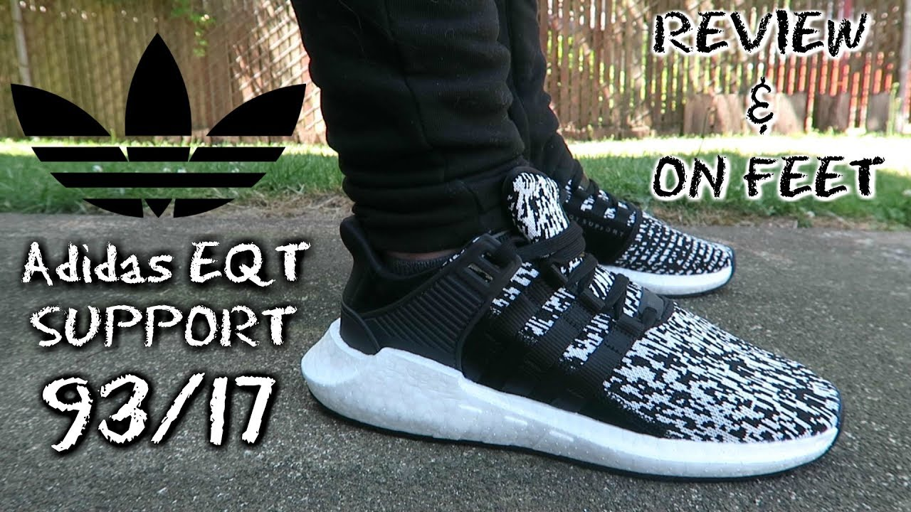 Adidas EQT Support 93 17 - Core Black White - YouTube f2e38a228