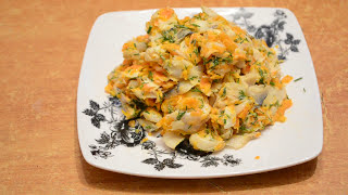 Салат из минтая./Salad of polloc.