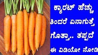 ಕ್ಯಾರಟ್ ಹೆಚ್ಚು ತಿಂದರೆ ಏನಾಗುತ್ತೆ ಗೊತ್ತಾ.. ತಪ್ಪದೆ ಈ ವಿಡಿಯೋ ನೋಡಿ....  Health Benefits Of Carrots  