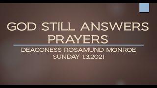 GOD STILL ANSWERS PRAYERS