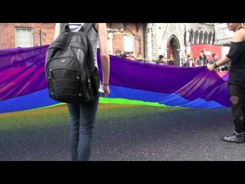 Gay Pride Parade 2011 (Dublin) - Really Large Pride Flag