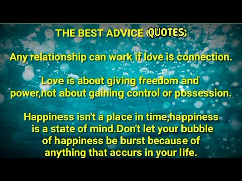 The Best Advice Quotes Part 1 Youtube
