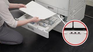 Méthode de base de chargement du papier/des enveloppes (Série WG7000)