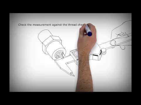 How To Measure And Identify A Hydraulic Pipe Thread