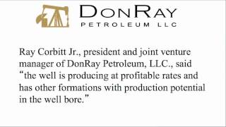 DonRay Petroleum Announced Completion of the DRP Grace #8 Well