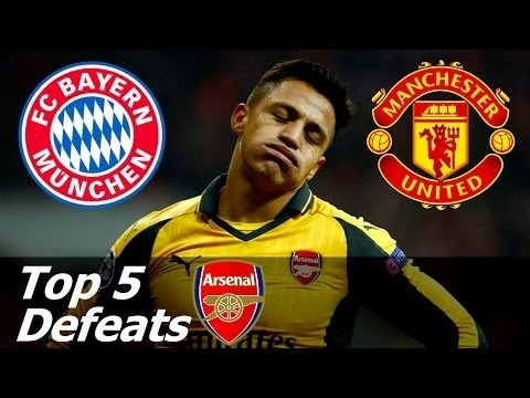 Top 5 Humiliating Arsenal defeats💯💯