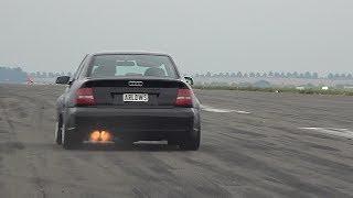 Audi RS4 B5 2.7 Bi-Turbo Acceleration & Anti Lag Launch Sounds
