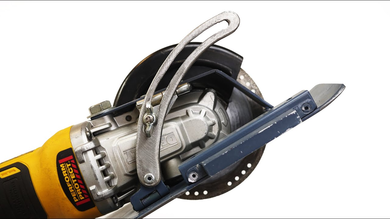 Cool idea! A tricky device from your angle grinder (without welding)