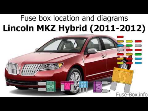 Fuse box location and diagrams Lincoln MKZ Hybrid (2011-2012) - YouTube