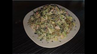 Вкуснейший салат из крабовых палочек.