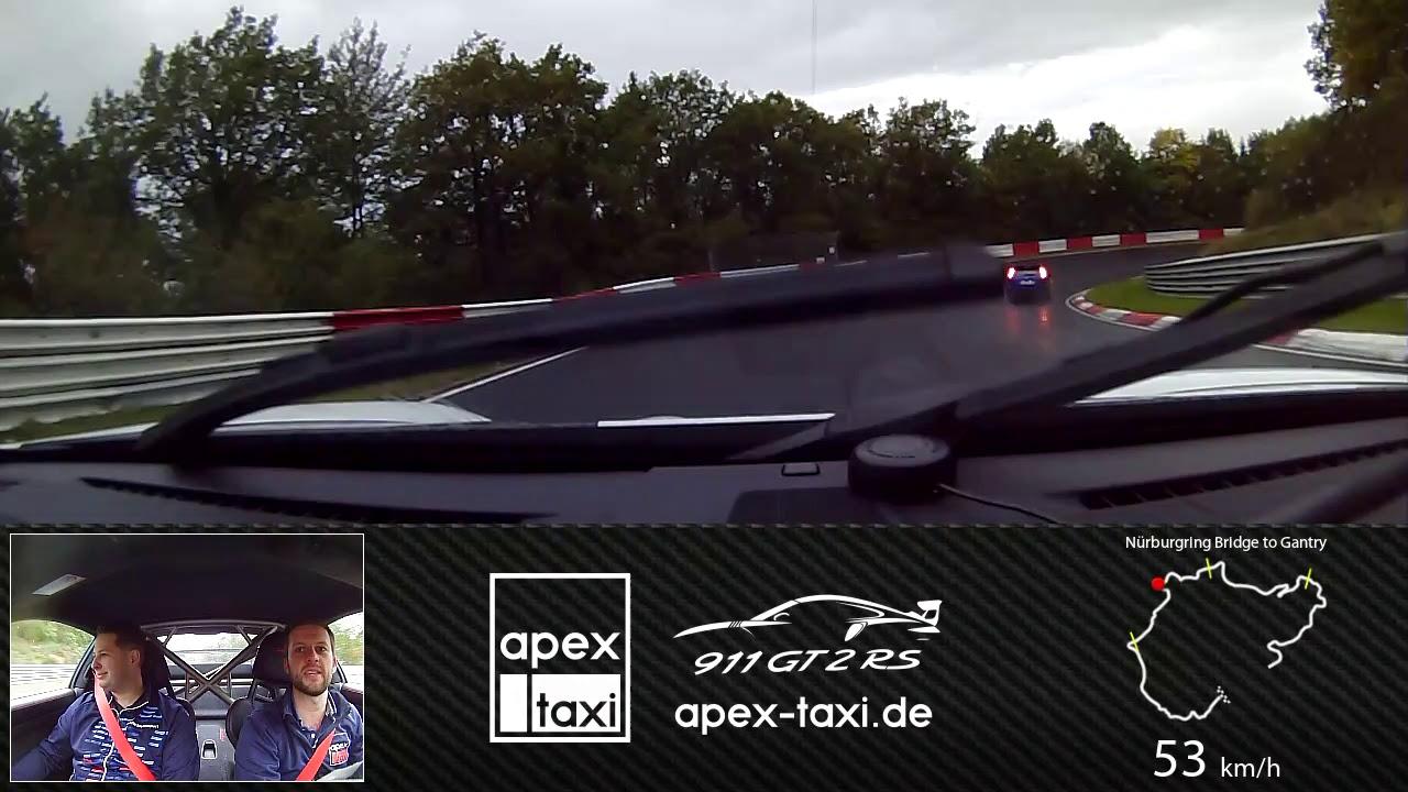 Nürburgring Wet Lap Porsche 911 GT2 RS - Apex Taxi