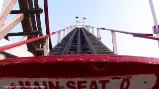 (POV) New York Cyclone Front Coney Island New York City [HD]