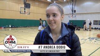 Caledon Basketball Academy's 2019 G Andrea Dodig