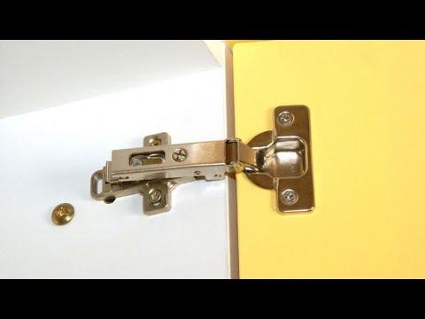 Arreglar la bisagra de los muebles de la cocina - Bricomania - YouTube