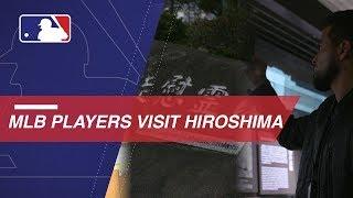 MLB players visit Hiroshima Peace Memorial Park