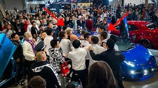 FIGHT BREAKS OUT at Tokyo Auto Salon...Liberty Walk vs Morohoshi Crew