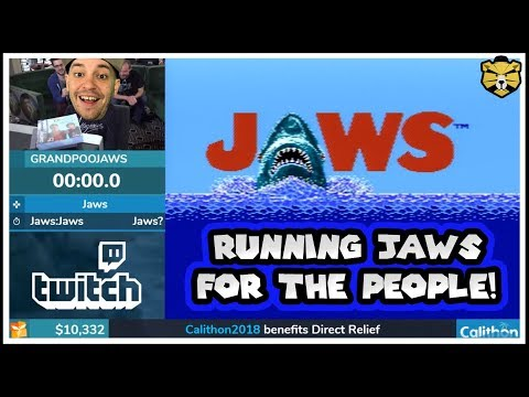 Fighting Sharks For Charity! Speedrunning Jaws For Direct Relief!