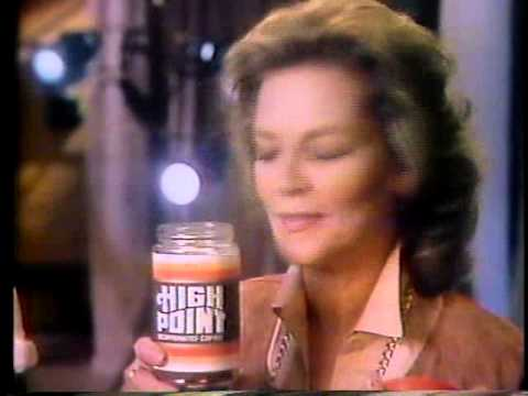 Lauren bacall 1982 high point coffee commercial youtube for High pointe