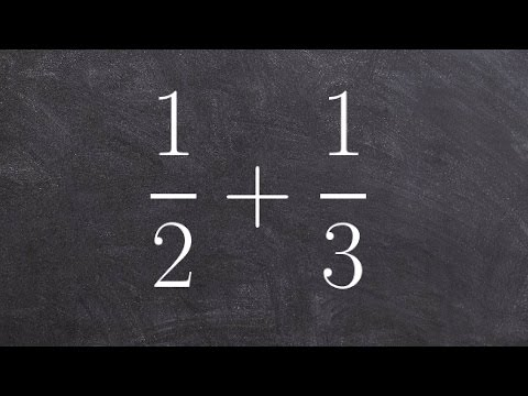 Adding fractions with unlike denominators - free online math tutoring