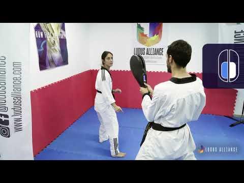 Ludus Alliance - Training Center | Front Dollyo/Kama Chagi & Switch - Decision Making (Taekwondo)