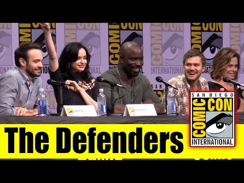 Marvel's THE DEFENDERS  Comic Con 2017 Full Panel Krysten Ritter, Sigourney Weaver, Charlie Cox