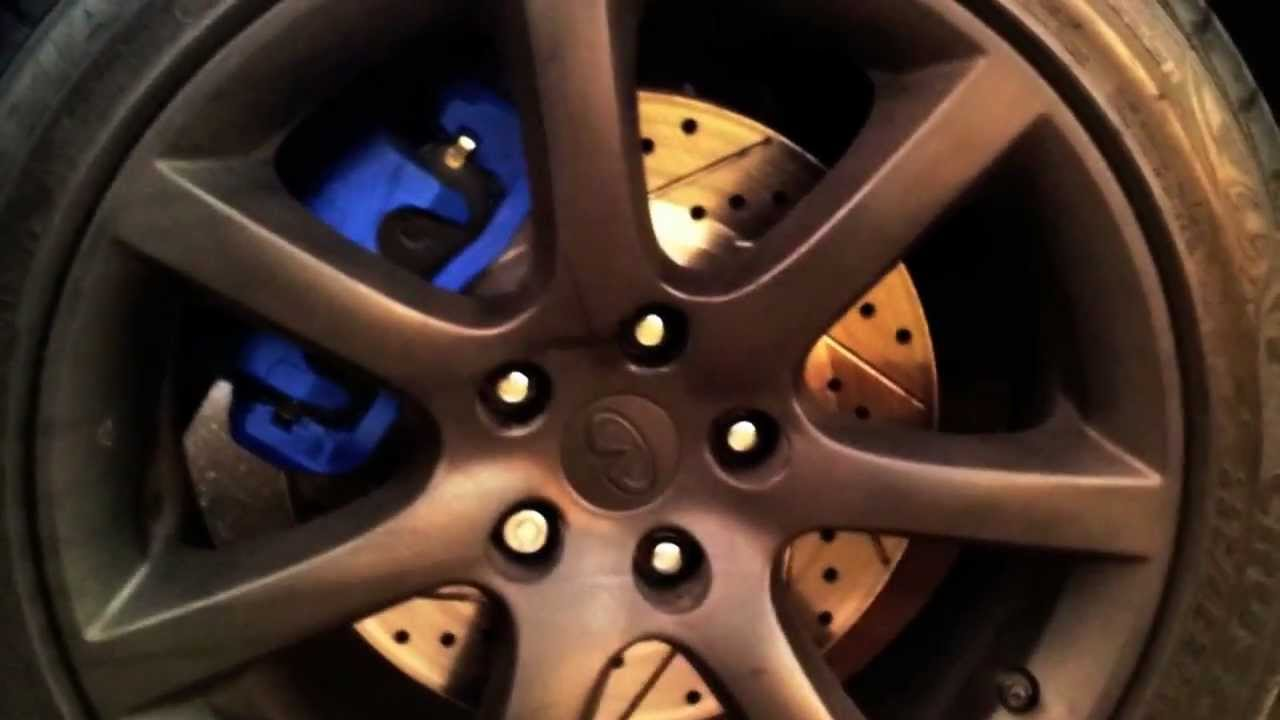 Cross Drilled Amp Slotted Rotors Infiniti G35 Youtube
