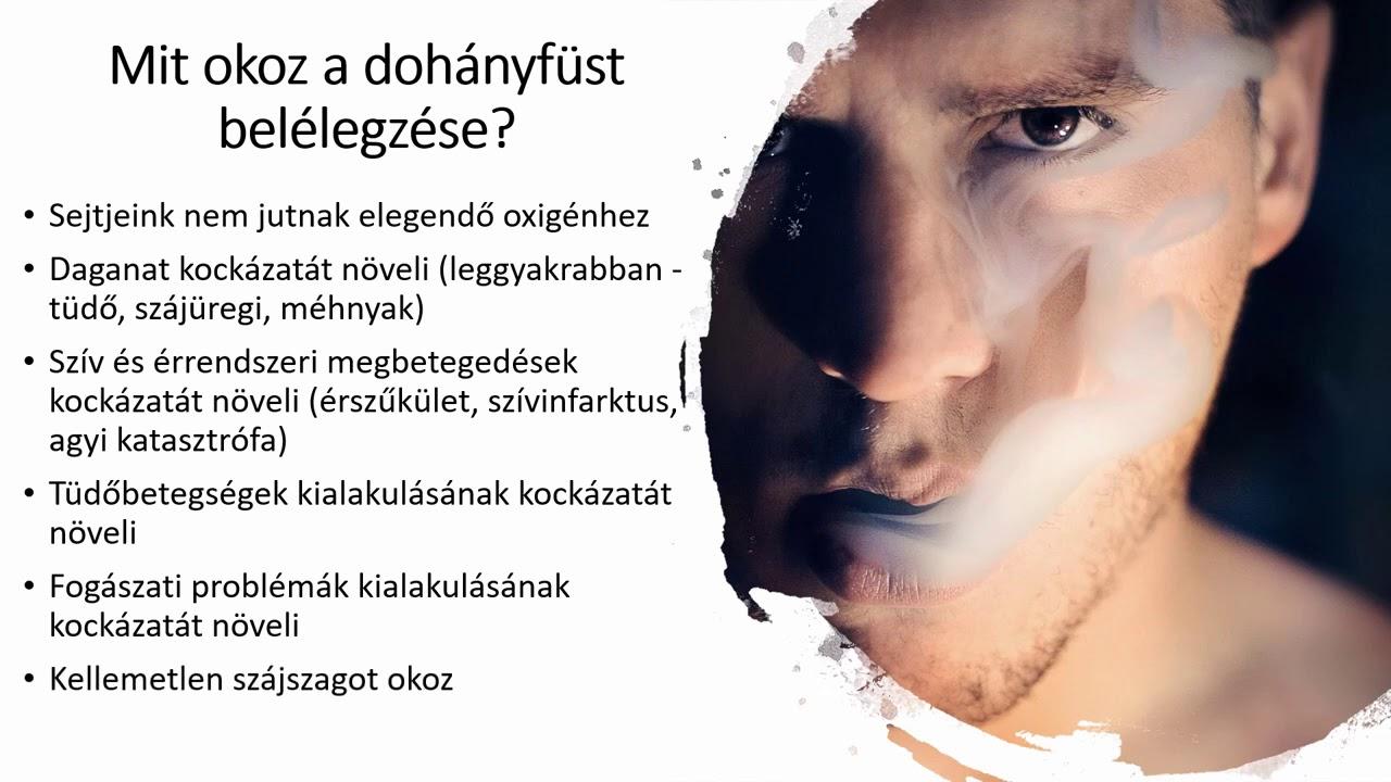 a dohányzás negatív hatásai