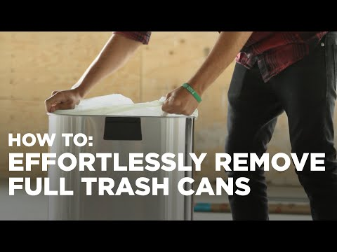 1 trick to easily remove a full trash bag from a garbage can