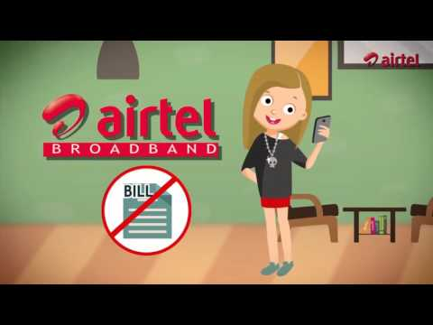 Airtel Broadband 2 mnt. Animated Commercial